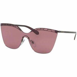 Bvlgari Shield Style Sunglasses W/Violet Lens